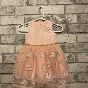 Baby Girl's Sleeveless Butterfly Dress 0-3 Months